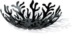 """Cestino Alessi  """"Mediterraneo"""",colore nero"""