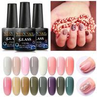 17 Colors Pink Crystal Jelly UV Gel Semi-transparent Soak Off Nail Art Polish