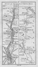 1778 Ireland Dublin Trim Lucan Leixlip Killcock Summerhill Antique Road Map