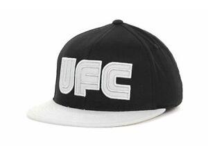 UFC Billboard Gray Logo 2 Tone  Black & Gray MMA Flex Fit Flat Bill Style Cap