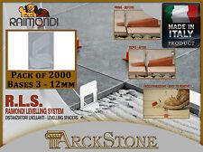 ARCKSTONE Pack 2000 bases 3-  12 mm floor coating Raimondi Levelling System RLS