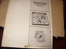 echecs ,manuel jeu d'echec electronique  exellence model EP 12