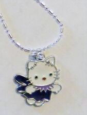 "hello kitty purple fairy Pendant  necklace 1"" charm"