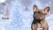 French Bulldog Christmas Labels by Starprint - No 3