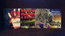 3 Books World's Worst Villains Mythical Monsters Cryptids Other Creepy Creatures