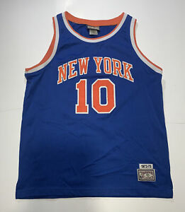 New York Knicks Walt Frazier Hardwood Classics Authentic Jersey-Medium👀🔎🔥