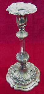 Candlestick Candle Holder Antique Baroque SilverPlate On Brass Pedestal 29 cm