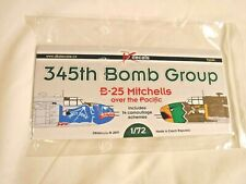 1/72 DK Decals Waterslide 345th Bomb Group B 25 Mitchell Over Pacific # 72041
