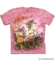 The Mountain Kid's Pink Cotton T-Shirt Awesome Unicorn Tee Size Youth M NWT.