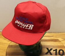 VINTAGE NWOT PACIFIC DETROIT DIESEL POWER HAT RED USA MADE SNAPBACK X10