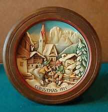 Anri Christmas in St. Jakob in Groden Plate Framed in Wood N 1971