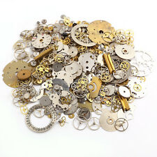50g Lot Vintage Steampunk Wrist Watch Old Parts Gears Crafts Wheels Steam Punk