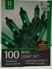 100 Mini Light Set Green (Target, 2003) New