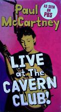 PAUL McCARTNEY - LIVE AT THE CAVERN CLUB - VHS TAPE - STILL SEALED