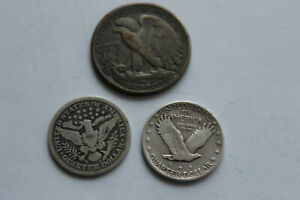 USA 3x old coins nr.602 @ low start