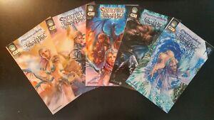 SOULFIRE Shadow Magic #0, 2-5 (Cvr A's)(2009 ASPEN Comics) VF/NM LOT