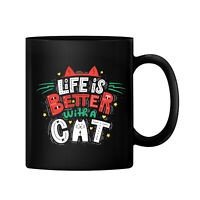 Life is Better With a Cat Ceramic 11oz Coffee Mug Tea Cup Gift