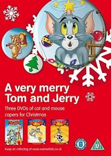A VERY MERRY TOM & JERRY - CAT & MOUSE CHRISTMAS CAPERS - NEW 3 DVD BOX SET