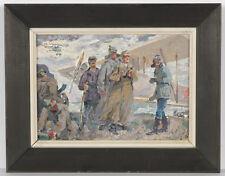 """Valeri Mashnitski (b.1934) """"On Military Airfield"""", Oil Painting, 1971"""