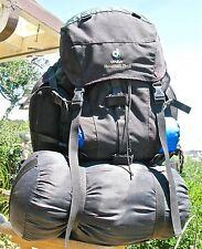Vintage Deuter Aircontact 75 + 10 Trekking Backpack Grey & Green EXC. CONDITION