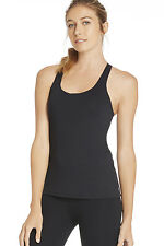 Fabletics Casa Tank Top Built-in Bra & Removable Cups S/10 BNWT RRP £54.95 Black