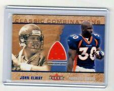 2002 Fleer Classic Combinations Relics JOHN ELWAY (jsy) / TERRELL DAVIS  [Mint]