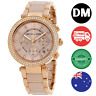Michael Kors - New Parker Rose Gold Tone Crystal Chronograph Womens Watch MK5896