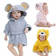 Baby Kinder Bademantel Kapuze Bathrobe Nachtwäsche Pajamas Sleepwear 0-18 Monate