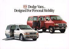 1995?1996 Dodge HandiCap Conversion Van Brochure: RAM,MaxiVan,Wagon,AUTOMOBILITY