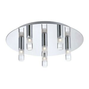Eurofase Cube 6-Light LED Flushmount, Chrome/Clear/satin - 25675-016