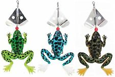 15 x Fladen Swimming Frog Lures Spinnerbait Spinners Pike Perch Bass Job Lot
