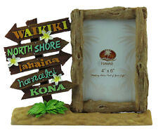"Hawaiian Picture Photo Frame Poly Resin 4""x6"" Aloha Hawaii Beach Islands Signs N"