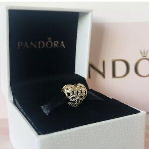 Pandora 14ct Gold Love & Appreciation Openwork Heart Charm ~ 750837CZ NEW in Box
