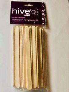 Hive Options Disposable Wooden Wax Sticks Tongue Mini Waxing Spatulas Pack of 50