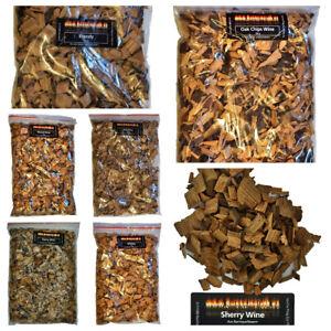 BBQ Barriquefass Wood Chips / Räucherchips 200g  Whisky Brandy Rotwein Sharry
