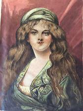 Portrait de femme aquarelle sur vergé signé A Guigou a priori fin XVIIIe ?