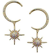 Kirks Folly Twilight Star Galaxy Pierced Earrings goldtone