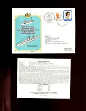 FDC  RNZN - 25th Annv 1st visit HM Queen Elizabeth II to NZ 1953, signed