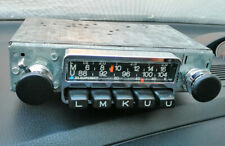 BLAUPUNKT Frankfurt Baujahr 1972 Oldtimer Autoradio Chrom-Blende Regler -geprüft