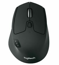 Logitech M720 Triathlon Wireless Mouse Multi-Device Bluetooth Mac PC Black NEW