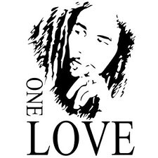 Bob Marley ONE LOVE Vinyl Art Mural Wall Sticker Home Decal Decor Room Musi Y1X4