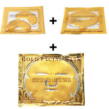 20 X 24k Gold Bio Collagen Luxury Face Mask Wrinkle Tired Puffy Eyes Treatment