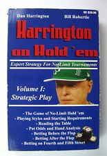 Harrington On Hold'em Expert Strategy For No Limit Tournaments Volume 1 1st. ED