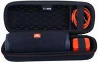 LTGEM Travel Case for JBL FLIP 5 Waterproof Portable Bluetooth Speaker - Black