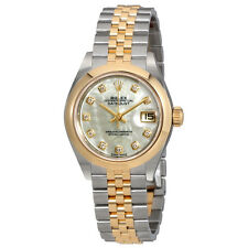 Rolex Lady Datejust Mother of Pearl Diamond Steel and 18K Yellow Gold Jubilee Wa