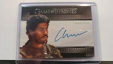 Game of Thrones Season 8 Chuku Modu (Aggo) Autograph Card