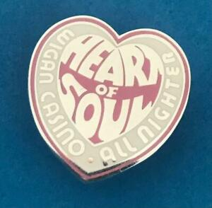 NORTHERN SOUL BADGE - WIGAN CASINO - HEART OF SOUL ALLNIGHTER - IN 2 COLOURS