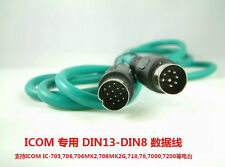 DIN13 to DIN8  data cable For ICOM Radio  IC-7200 7000 703,706 718