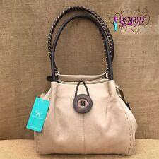 Ladies Cream Faux Leather Big Button Fashion Shoulder Bag Handbag