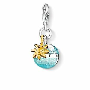 New Genuine Thomas Sabo Silver enamel Charm pendant globe charm ref 0923 RRP £74